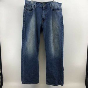 Lucky Brand Mens 181 Relaxed Straight Jeans Blue